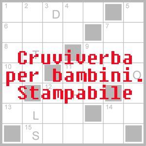 Download 4 Cruciverba Per Bambini Di 810 Anni Da Stampare In Pdf Pdf