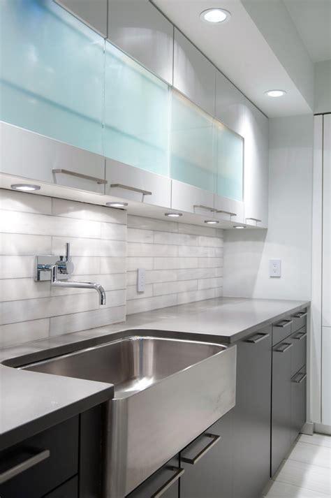 wall mounted kitchen   tone cabinets kitchen modern