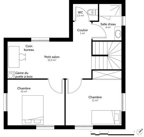 Plan Maison En V Avec Etage D 233 Couvrez 5 Plans De Maisons De 100m 178 Et Les Plans De Masse