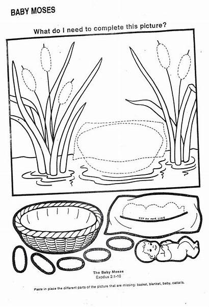 Moses Bible Crafts Sunday Activities Coloring Pages
