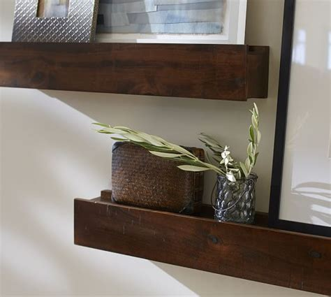 pottery barn shelf rustic wood ledges pottery barn