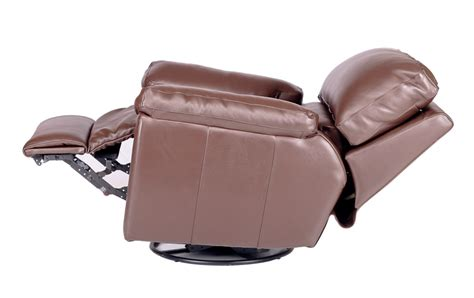 vermont leather power recliner w swivel glide base