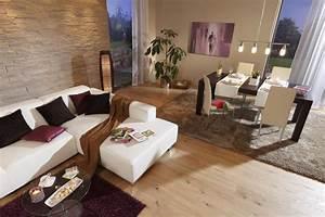 Wohnzimmer Braun Beige : wohnzimmer esszimmer beige braun steinwand laminat teppich wohnzimmer modern braun ~ A.2002-acura-tl-radio.info Haus und Dekorationen