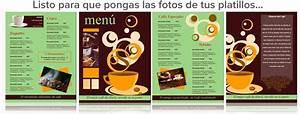 Plantilla para Menu de Cafeteria Capacitación para Restaurantes Menus de Restaurantes