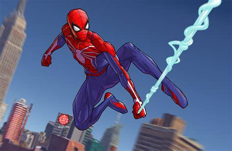 spider man ps fanart  drawerofdrawings insomniacgames