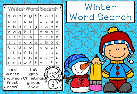 Free! Winter Word Search