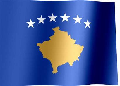 Flag Kosovo Map Animated Waving Flags Republic