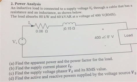 Solved Inductive Load Connected Supply Voltage