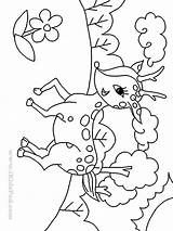 Coloring Deer Pages Baby Cartoon Cute Printable Draw Drawings Print Easy Library Popular Clipart Clip Getcolorings Coloringhome sketch template
