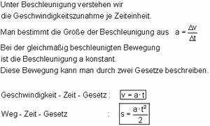 Weg Gesetz Abrechnung : oberstufenphysik die gleichm ig beschleunigte bewegung ~ Themetempest.com Abrechnung
