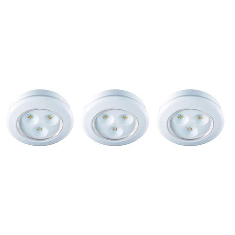 battery operated lights home depot commercial electric 2 99 in led white battery operated