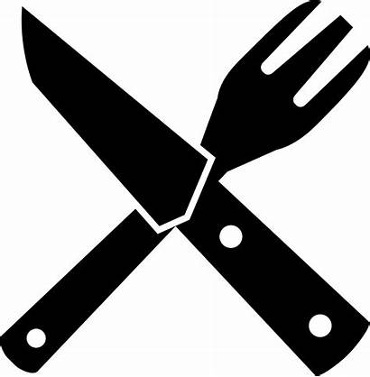 Svg Utensil Clipart Utensils Restaurant Crossed Icon
