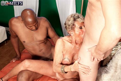 Dirty 60granny Milf Sandra Ann Doing Two Hard Cocks