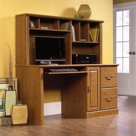 oak desk with hutch wood computer desk with hutch in carolina oak 401354