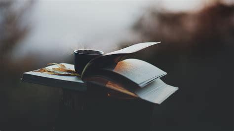 coffee depth  field books leaves wallpapers