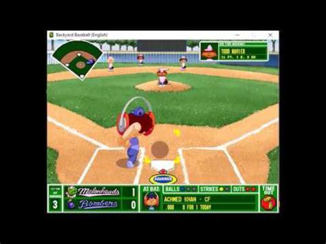 Backyard Baseball 1997 by Backyard Baseball 1997 Blue Bombers Vs