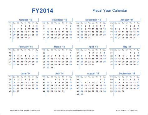 Fiscal Year Calendar Template Costumepartyrun