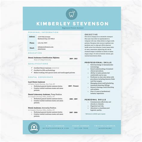 Blue Resume Design crisp blue resume template pkg resume templates on creative market