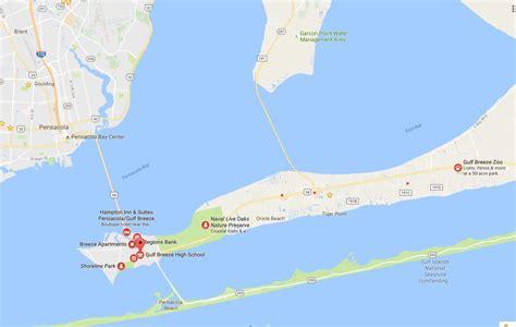 Gulf Breeze Florida Map Bnhspinecom