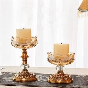 European, Style, Crystal, Glass, Candle, Holders, Home, Decor, Candlestick, Candelabra, Porta, Velas