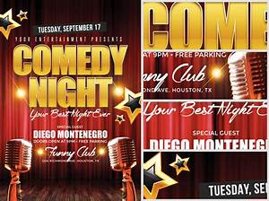 comedy night flyer template flyerheroes With comedy night poster template