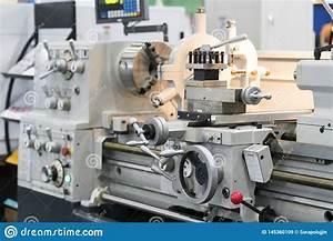 High Precision Manual Lathe Machine Stock Image