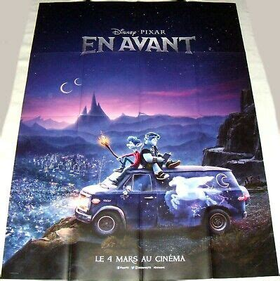 onward pixar disney animation large french poster teaser