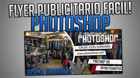 tutorial photoshop afiche publicitario como hacer un flyer