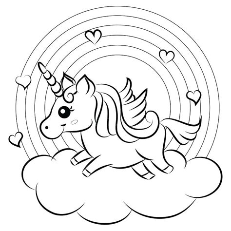 secrets unicorn coloring pages rainbow  kids printable
