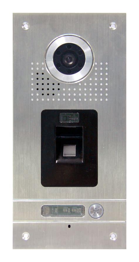sprechanlage mit sprechanlagen aussenstelle mit fingerprint sac562dn ckz1