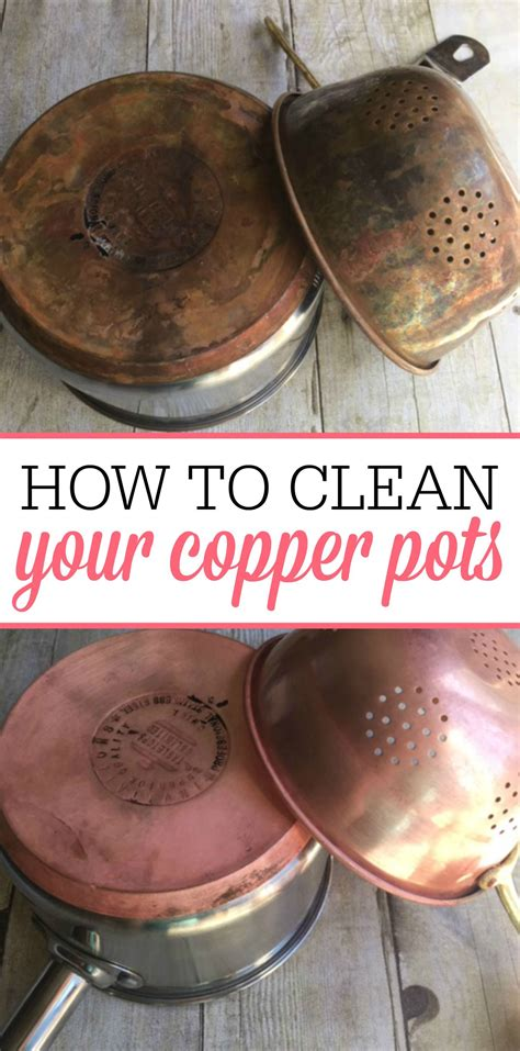 easy tips  cleaning copper pots   clean copper copper pots cleaning