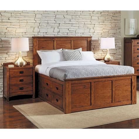 aira  piece solid wood king storage bedroom set