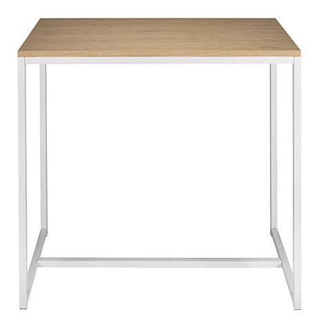 table a manger haute table 224 manger haute en m 233 tal blanc 4 6 personnes l120 igloo maisons du monde