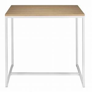 Table Haute Maison Du Monde : table manger haute en m tal blanc 4 6 personnes l120 ~ Farleysfitness.com Idées de Décoration