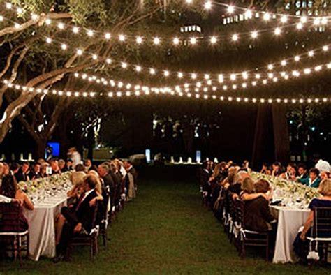 Traditional Bridal Wedding Patio Garden String Lights