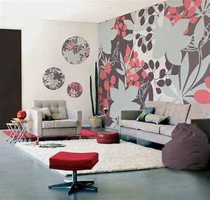 35 wohnzimmer ideen zur gestaltung von fussboden wand With balkon teppich mit graffiti wand tapeten