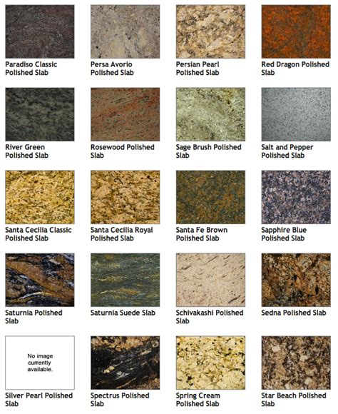 granite colors and names
