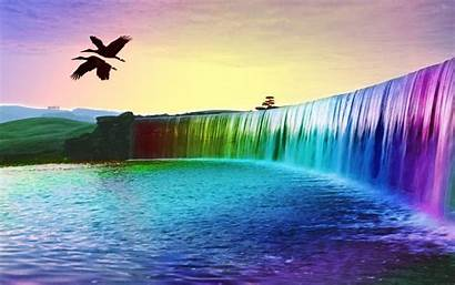 Waterfall Colorful 3d Waterfalls Moving Backgrounds Desktop