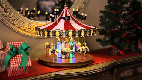 christmas flag carousel  lights