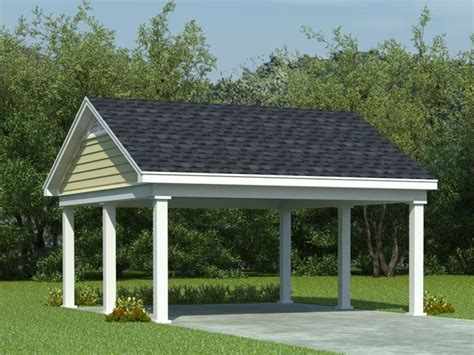 Carport Plans  2car Carport Plan With Support Posts