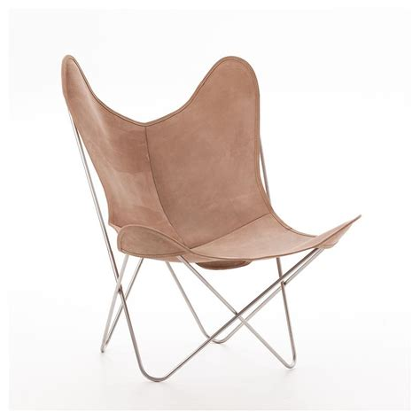 fauteuil indoor aa butterfly cuir lodge structure inox