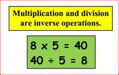 bureau invers math multiplication division vocabulary flashcards