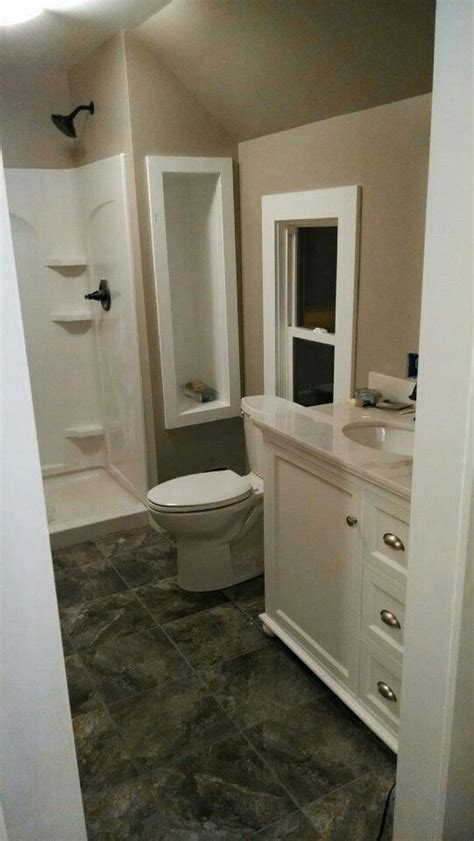 Grey Bathroom Fixtures by Small Bathroom Ideas Greige Walls Bright White Trim