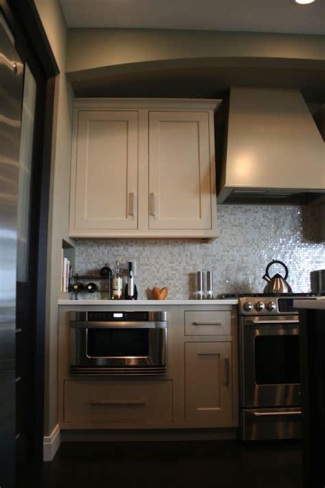 built  microwave contemporary kitchen spectrum