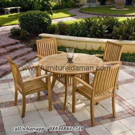 set kursi cafe outdor kayu jati solid kci  furniture