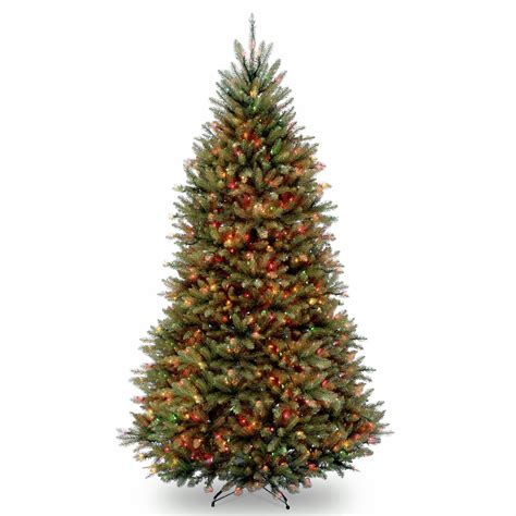 cheap pre lit christmas tree national tree company 9 pre lit artificial dunhill fir 8055