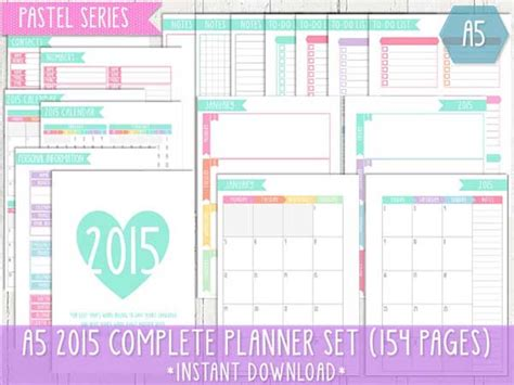 9 Best Images Of Cute Printable 2015 Planner Free