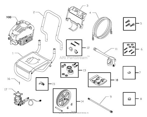 briggs and stratton power products 020235 0 580 752410 2 900 psi craftsman parts diagram for