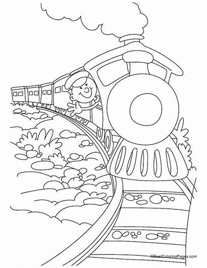 Polar Coloring Train Express Pages Pacific Printable