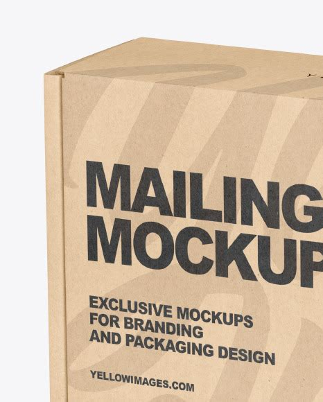 This free psd mockup file very easy to edit. Kraft Paper Mailing Box Mockup in Box Mockups on Yellow ...